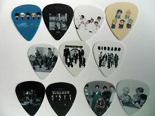 Set of 11 BIGBANG G-DRAGON GROUP Mixed Guitar  .71.mm  Picks  Double Sided