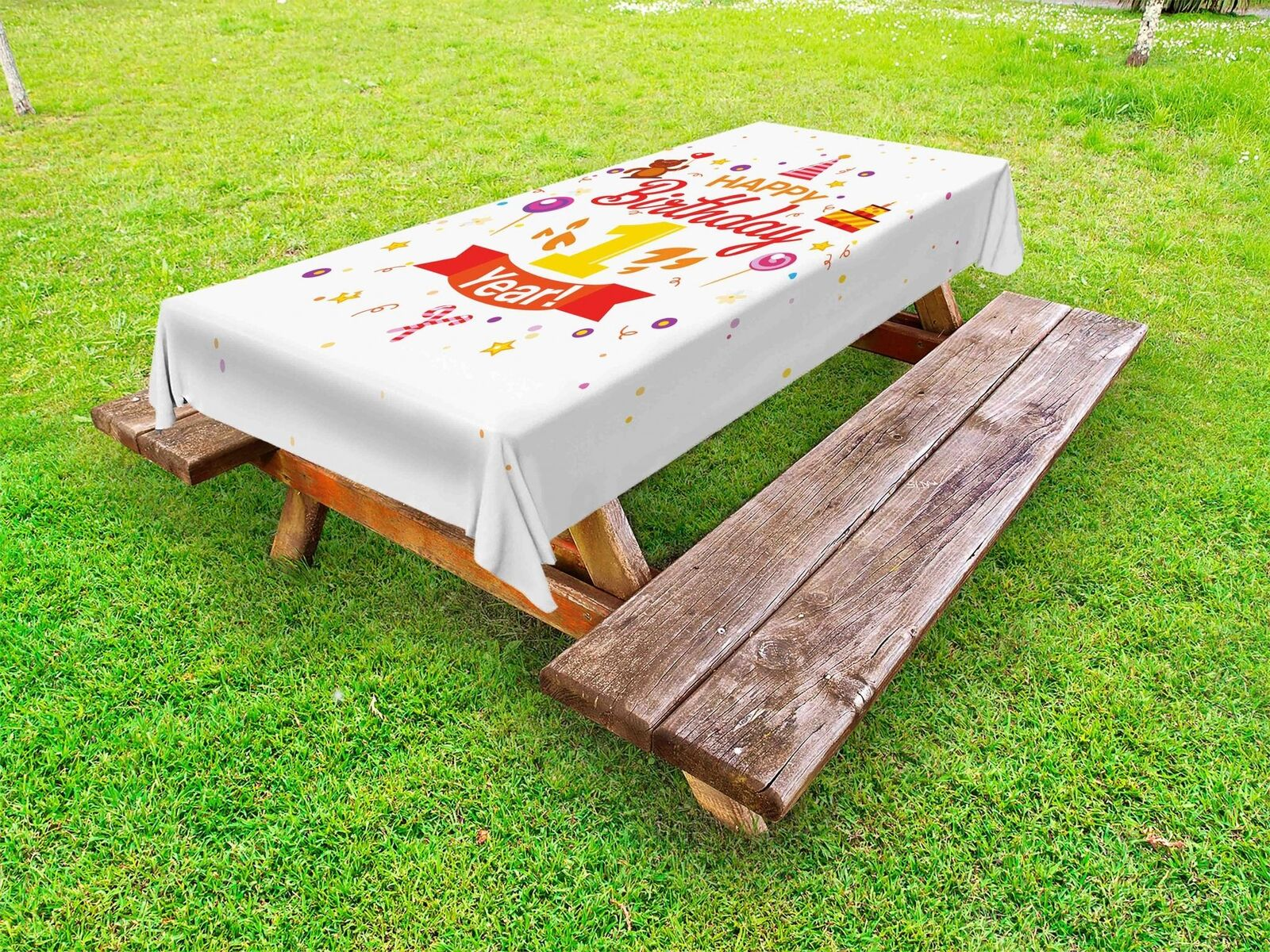 1st Birthday Outdoor Picnic Picnic Picnic Tablecloth in 3 Größes Washable Waterproof ae7c75