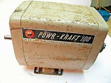Vintage Wards Powerkraft 100 Radial Arm Motor 34 Hp 3450 Rpm Wood Working