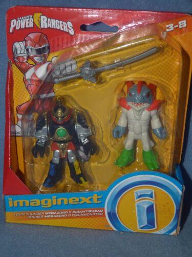 Imaginext Mighty Morphin Power Rangers-Thunder Megazord /& pirantishead NEUF *