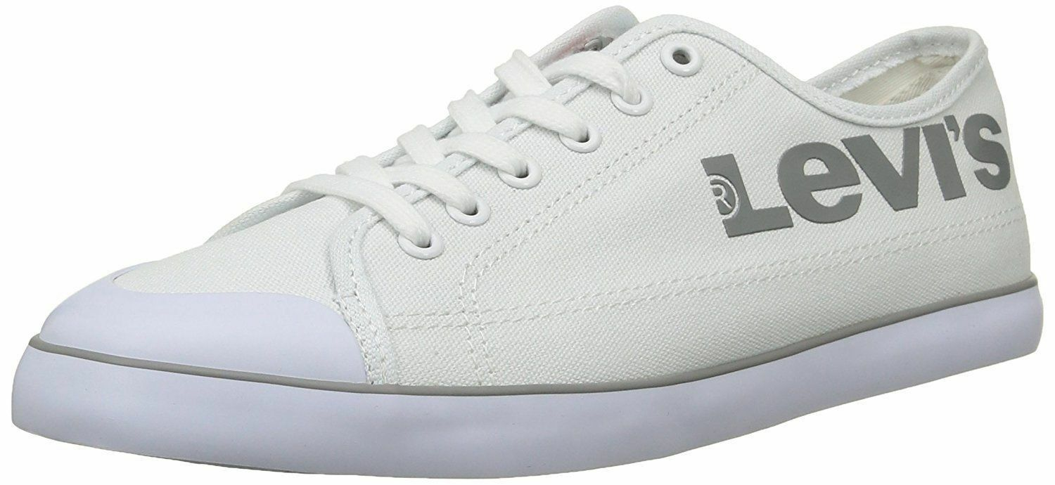 MENS LEVIS CANVAS TRAINER - PUMPS STYLE 223089 - TRAINER WHITE bf9641