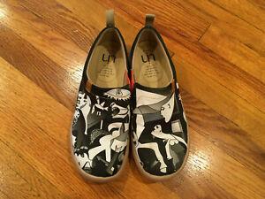 UIN-Art-Of-Walk-Canvas-EU-41-US-8-Picasso-Guernica-Canvas-Flat-Shoes