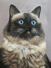 Custom Order Pet Painting Any Animal Artist Sharon Lamb Dog Cat Horse Commission