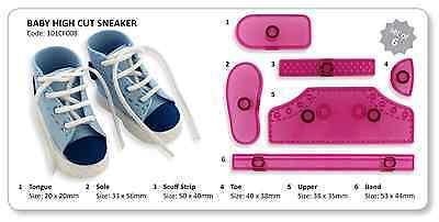 JEM 6 Set HIGH CUT SNEAKERS Trainer Shoe Icing Cutters Embosser Sugarcraft Cake