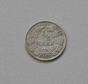 Imperio: 1/2 Marco 1919D, J. 16 ,Fast sin Circulación, III