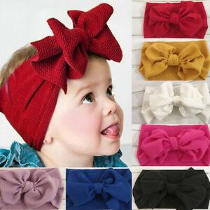 Baby-Girl-Bunny-Rabbit-Bowknot-Turban-Nylon-Headband-Elastic-Hair-Band-Headwrap