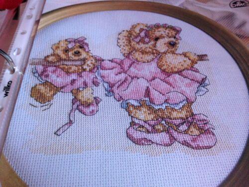 CROSS STITCH CHART BENGRY BEAR CHART BALLERINA BEARS SCENE BALLET DANCER TEDDY