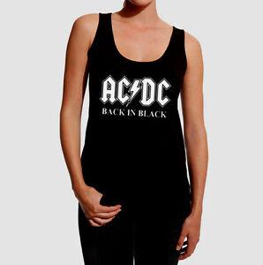 Shirt Top Tank Heavy Acdc Women Mujer Rock Hard Tirantes Camiseta T wqUIIS