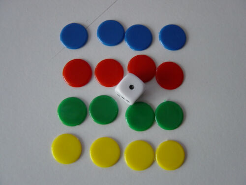 Tiddlywinks 22mm counters Counters and Dice packs 15mm