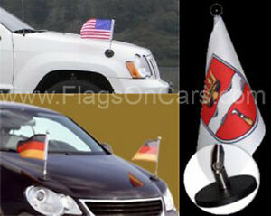 Magnetic Diplomat Car Flag Pole Without Flag Ebay