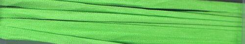 YLI 4 mm de large ruban de soie 3 M Longue Brillant Vert Citron 095