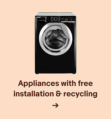Appliances with free installation & recycling