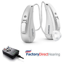 2 New Siemens Cellion Primax 5 Px RIC Hearing Aid Aids + EasyTek, Charger & TV