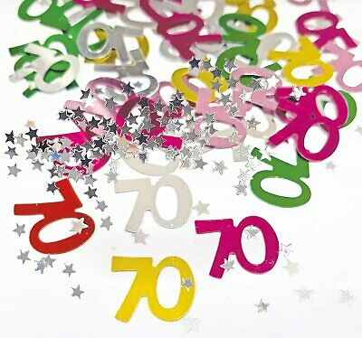 70th Birthday Table Scatter70th Party Table Confetti Decor UK SELLER