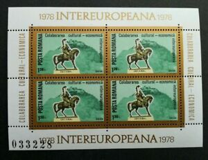 SJ-Romania-InterEuropa-1978-Horse-Riding-miniature-sheet-MNH