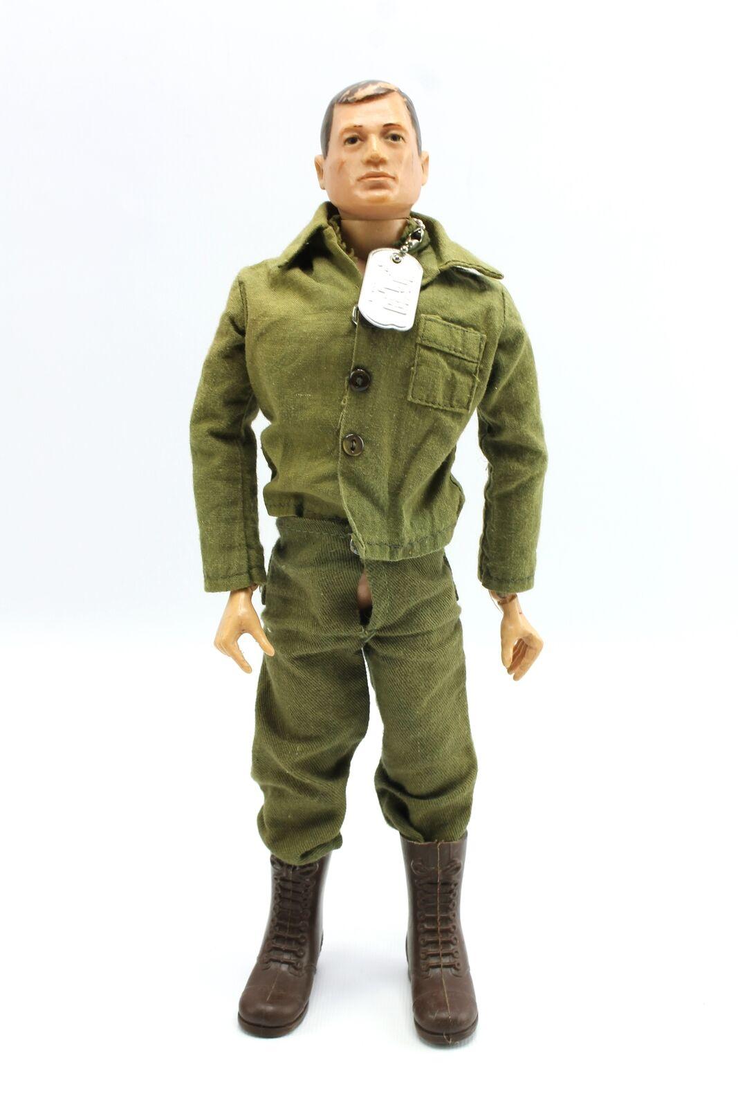 VINTAGE GI JOE HARD HEAD 196465 TM capelli castani cifra e azione Soldato Uniforme