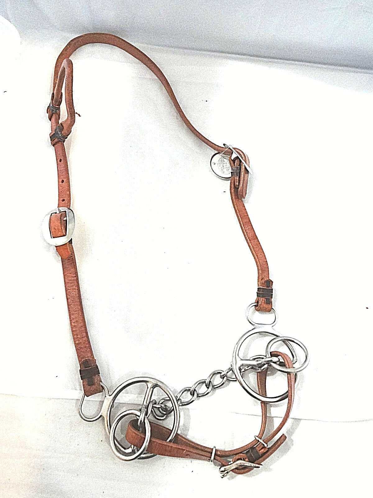 New Billy Cook Harness Leather One Ear Horse Headstall Bowman Twisted Snaffle