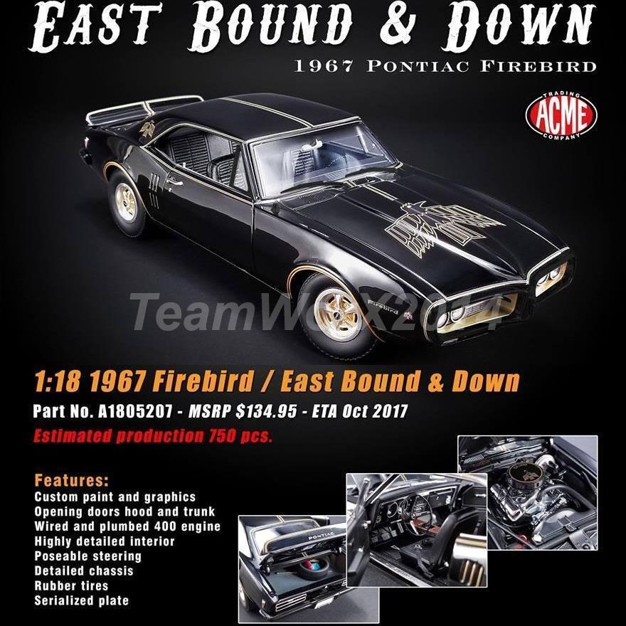 1 18 GMP Acme east bound & down 1967 Pontiac Firebird