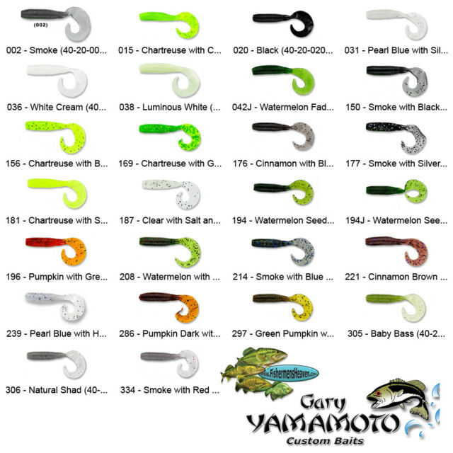 """Gary Yamamoto Kut Tail Worm 7 3//4/"""" 5Pk  Soft Plastic Bass Fishing Worm Bait"""