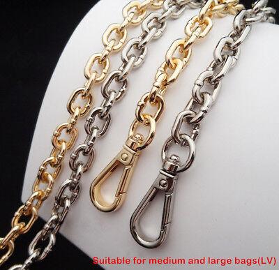 120cm//47.2, Black 12mm Big DIY Purse Shoulder Crossbody Metal Chain Strap Replacement for Bags Handbags