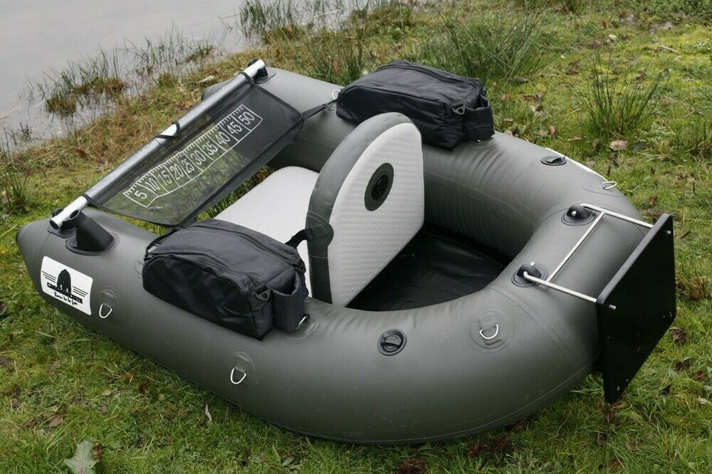 Inflatable 0.7mm PVC Floating Fishing Wader Belly Boat Raft W  Motor Board NEW