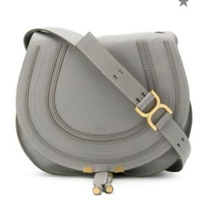 on sale top-rated quality many choices of Details about Chloe Marcie Medium Leather Crossbody Bag In Cashmere Grey