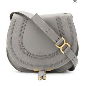 Image is loading Chloe-Marcie-Medium-Leather-Crossbody-Bag-In-Cashmere- d0fe7b1de2cb2