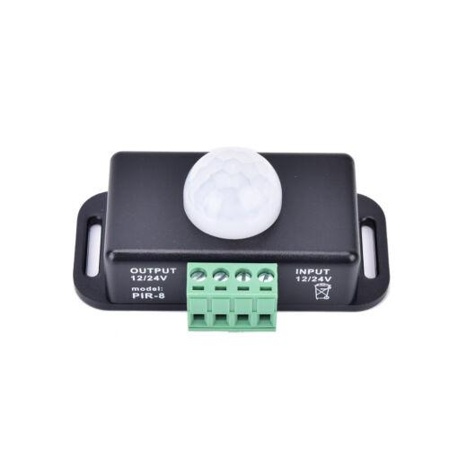 Automatic DC 12V-24V 8A Infrared PIR Motion Sensor Switch For LED light Best SZ