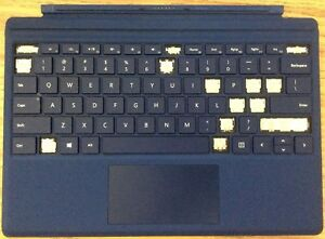 Details about Microsoft Surface Pro 4 Type Cover - Genuine Navy Blue  (QC7-00001)