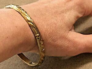 Antique-Sterling-Silver-and-14K-vermeil-bangle-bracelet-7-5-034