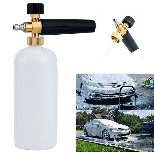 Car Foam Gun >> 1 4 Adjustable Snow Foam Lance Cannon Washer Bottle Pressure Car Wash Bottlejet
