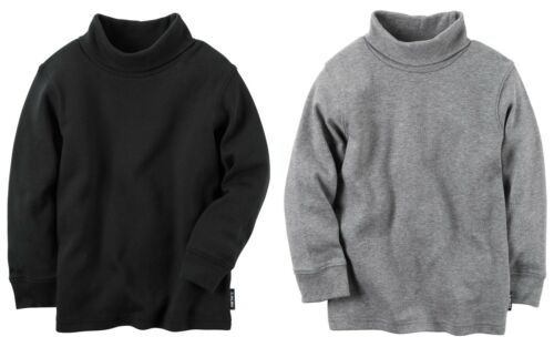Carter/'s Boys TWO Long-Sleeve Turtleneck Pullover Tops NWT one black one gray