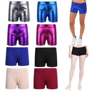 Baby Kid Girls Shiny Stretchy Hot Pants Shorts Ballet Gymnastics Dancing Pants
