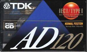TDK D 60 NORMAL POSITION TYPE I BLANK AUDIO CASSETTE 1992