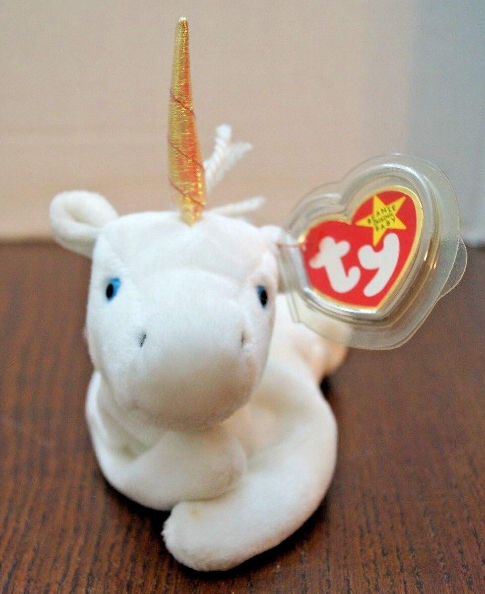 RARE 1994 Retired Mystic Unicorn  Ty Beanie Baby Plush w  ERRORS