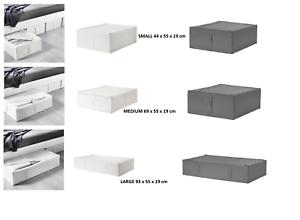 Ikea Skubb Boitier De Rangement Sous Lit Boites Noir Blanc Gris Armoire Organisateur Ebay