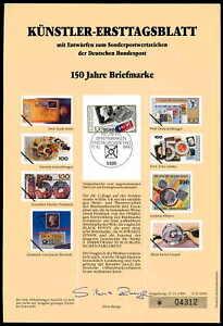 Courageux Rfa Artistes-etb 1990/ii 150 Ans Timbre Artistes-ersttags Feuille Ltd.-agsblatt Ltd.fr-fr Afficher Le Titre D'origine Soulager La Chaleur Et Le Soleil