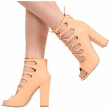 86fbeb7ce item 1 WOMENS LADIES HIGH HEEL PEEPTOE CUTOUT LACE UP STRAPPY SANDAL SHOES  SIZE 3-8 -WOMENS LADIES HIGH HEEL PEEPTOE CUTOUT LACE UP STRAPPY SANDAL  SHOES ...