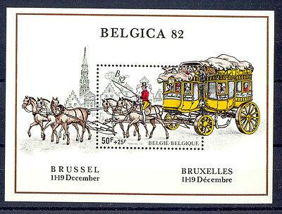 Belgien 1982 Block 53 Postkutsche Belgica 82 Senility VerzöGern