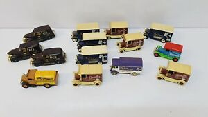 Lavoro-Lotto-di-Miniature-Cadbury-039-S-VANS-RETRO-giorni-andati-CORGI-collezionismo-giocattoli