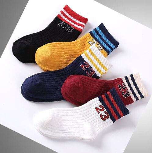 5 Pairs Boys Socks Kids Back School Autumn Ankle Socks Age 2-10 years