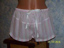 Victorias Secret Cotton Blend Pink StripeTap Shorts Size XS NWT