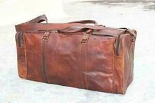 Vintage Full Grain Leather Full Grain Leather Overnight Gym Duffle Bag LD05.DS
