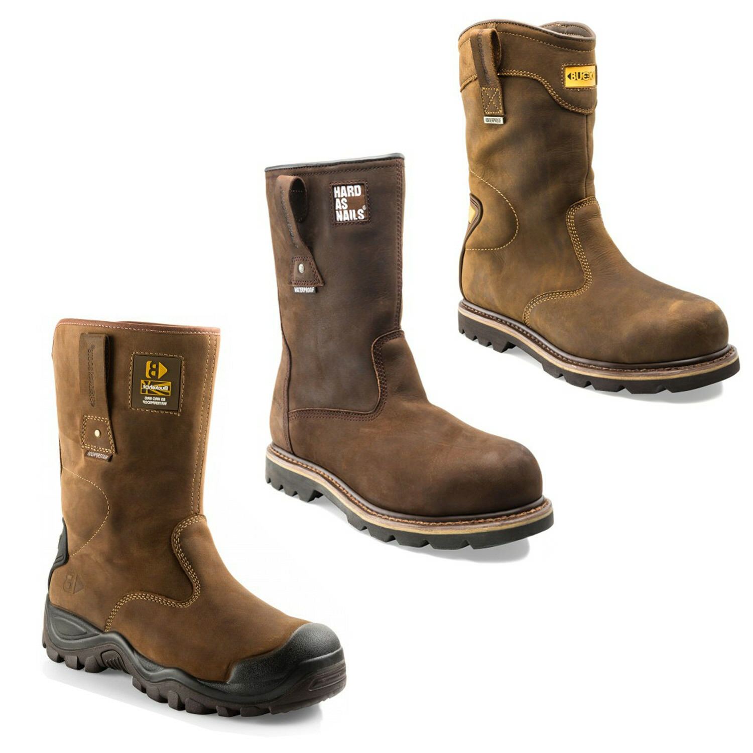 Buckler Waterproof Safety Rigger Styles) botas (Various Talla and Styles) Rigger Hombres Workwear 1e98cd