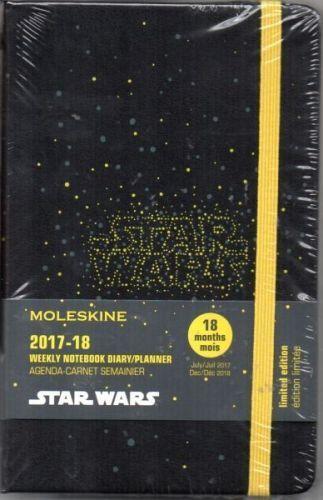 Star Wars 2017//18 Moleskine Wochen- // Notiz-// Taschenkalender Star Wars
