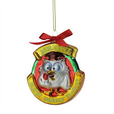 "TR35921 3.5"" Tootsie Roll Pop Mr. Owl ""How Many Licks"" Candy Lane Glass Ornament"