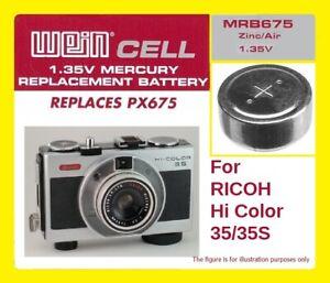 Original Weincell Mrb675 1,35 V Photobatterie Px675 Lr44 ZuverläSsig Ricoh Hicolor 35/35s Analoge Fotografie