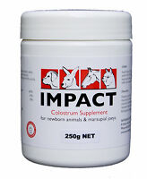 250gr Impact Colostrum Replacer Baby Animal Feed Supplement Powder 2513