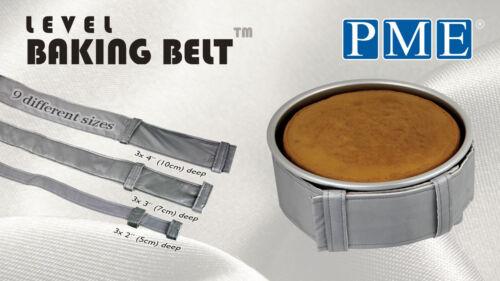 PME niveau Baking Ceinture cuire même Gâteaux Bandes 9 Tailles Disponibles Pour 2,3 /& 4 Deep Tin