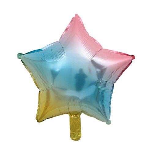 Rainbow Color Digital Heart Aluminum Foil Balloon Wedding Birthday Party Decor